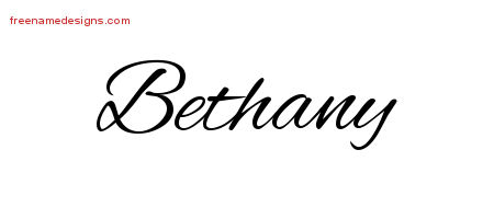 Cursive Name Tattoo Designs Bethany Download Free Free