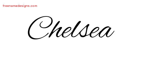 cursive name tattoo designs chelsea download free free name designs. Black Bedroom Furniture Sets. Home Design Ideas