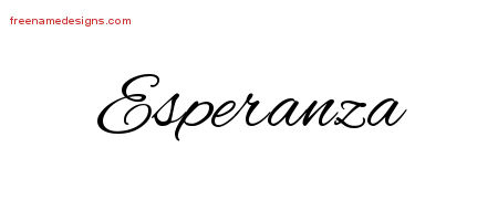 cursive name tattoo designs esperanza download free free name designs. Black Bedroom Furniture Sets. Home Design Ideas