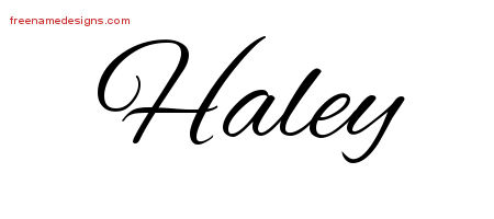 cursive name tattoo designs haley download free free name designs. Black Bedroom Furniture Sets. Home Design Ideas