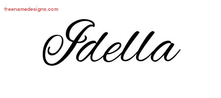 Idella Cursive Name Tattoo Designs