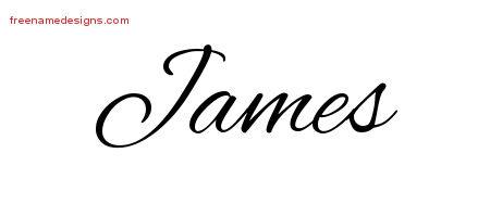 James Cursive Name Tattoo Designs