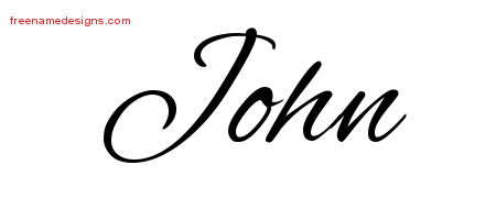 John Cursive Name Tattoo Designs