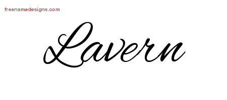 Lavern Cursive Name Tattoo Designs