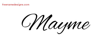 Mayme Cursive Name Tattoo Designs