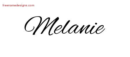 Cursive Name Tattoo Designs Melanie Download Free Free Name Designs