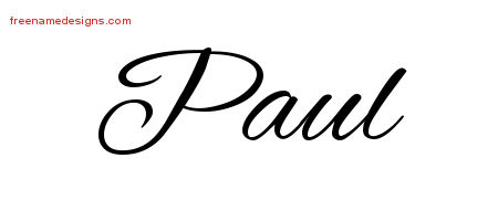 cursive name tattoo designs paul download free free name designs. Black Bedroom Furniture Sets. Home Design Ideas