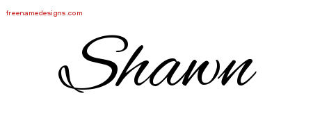 Shawn Cursive Name Tattoo Designs