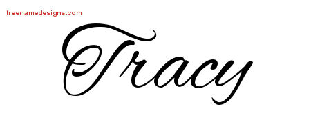 Tracy Cursive Name Tattoo Designs