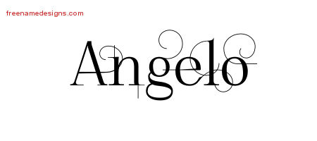 Angelo Decorated Name Tattoo Designs