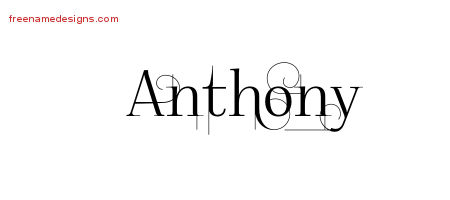 decorated name tattoo designs anthony free free name designs. Black Bedroom Furniture Sets. Home Design Ideas