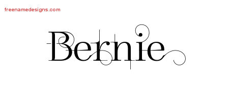 Bernie Decorated Name Tattoo Designs