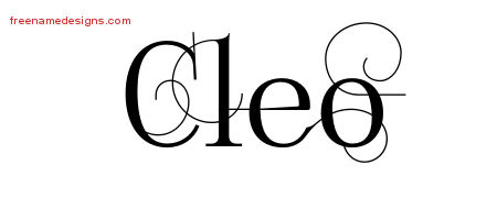 Cleo Decorated Name Tattoo Designs