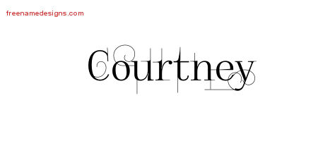 Courtney Decorated Name Tattoo Designs