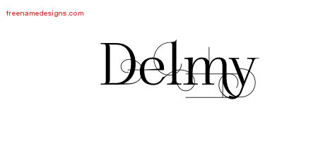 Delmy Decorated Name Tattoo Designs