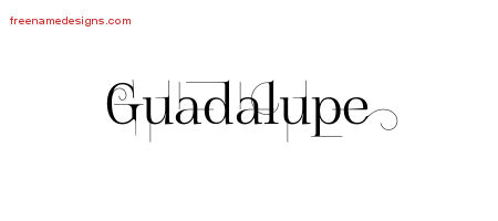 Guadalupe Decorated Name Tattoo Designs