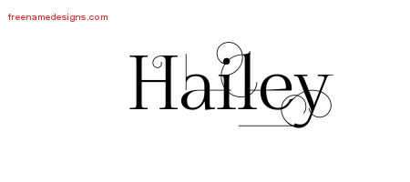 decorated name tattoo designs hailey free free name designs. Black Bedroom Furniture Sets. Home Design Ideas