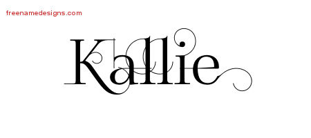 Kallie Decorated Name Tattoo Designs