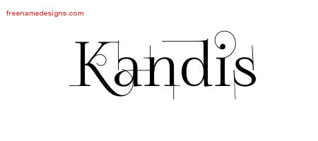 Kandis Decorated Name Tattoo Designs