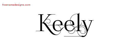 Keely Decorated Name Tattoo Designs