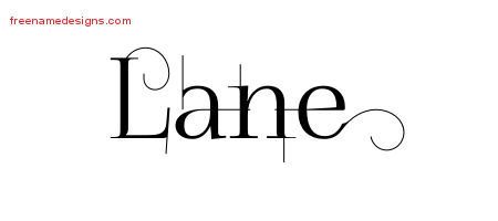 Lane Decorated Name Tattoo Designs