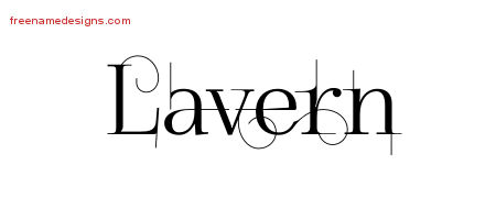 Lavern Decorated Name Tattoo Designs