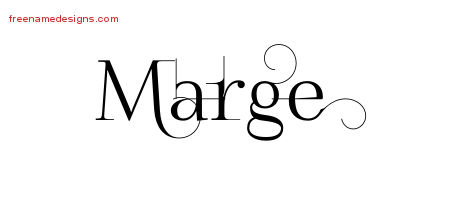 Marge Decorated Name Tattoo Designs