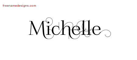 decorated name tattoo designs michelle free free name designs. Black Bedroom Furniture Sets. Home Design Ideas