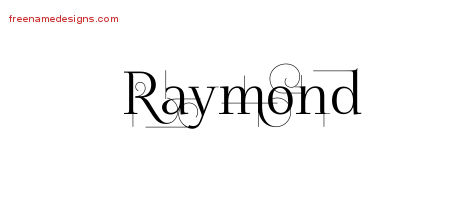 Raymond Decorated Name Tattoo Designs
