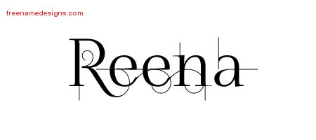 Reena Decorated Name Tattoo Designs
