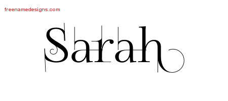 decorated name tattoo designs sarah free free name designs. Black Bedroom Furniture Sets. Home Design Ideas