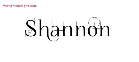 Shannon Decorated Name Tattoo Designs