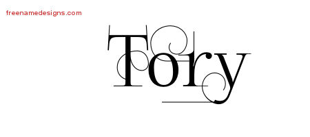Tory Decorated Name Tattoo Designs