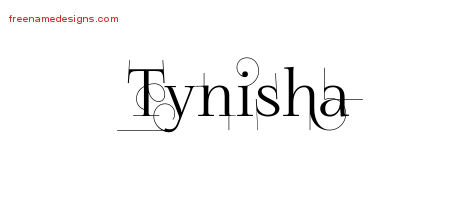 Tynisha Decorated Name Tattoo Designs