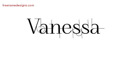 decorated name tattoo designs vanessa free free name designs. Black Bedroom Furniture Sets. Home Design Ideas