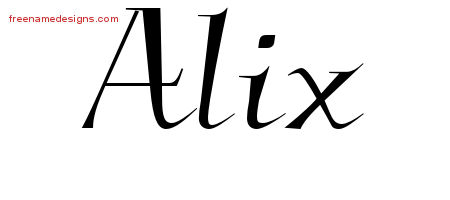 Alix Elegant Name Tattoo Designs