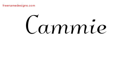 Cammie Elegant Name Tattoo Designs