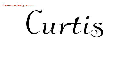 Curtis Elegant Name Tattoo Designs