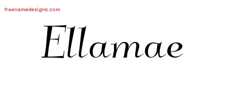 Ellamae Elegant Name Tattoo Designs