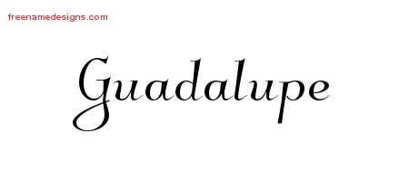 Guadalupe Elegant Name Tattoo Designs