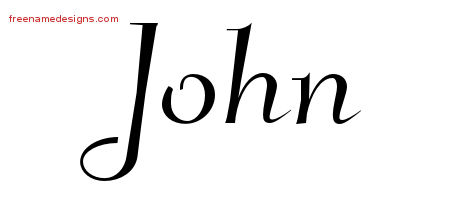 John Elegant Name Tattoo Designs
