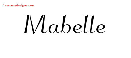 Mabelle Elegant Name Tattoo Designs