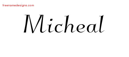 Micheal Elegant Name Tattoo Designs