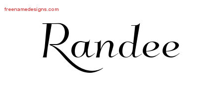 Randee Elegant Name Tattoo Designs
