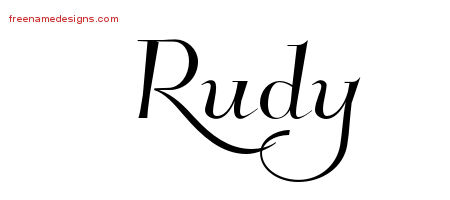 Rudy Elegant Name Tattoo Designs