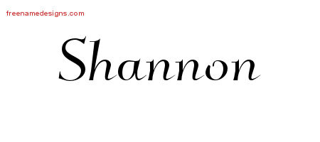 Shannon Elegant Name Tattoo Designs