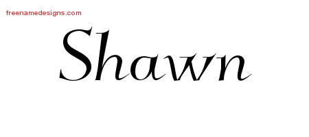 Shawn Elegant Name Tattoo Designs