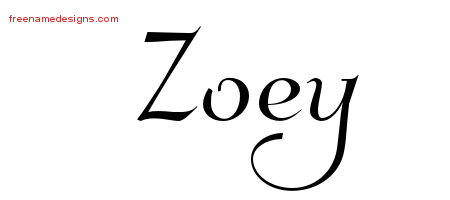 elegant name tattoo designs zoey free graphic free name designs. Black Bedroom Furniture Sets. Home Design Ideas