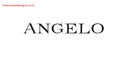 Angelo Flourishes Name Tattoo Designs
