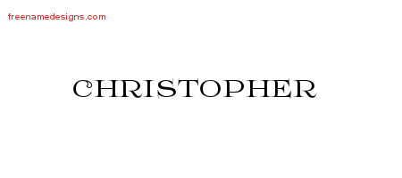 Christopher Flourishes Name Tattoo Designs